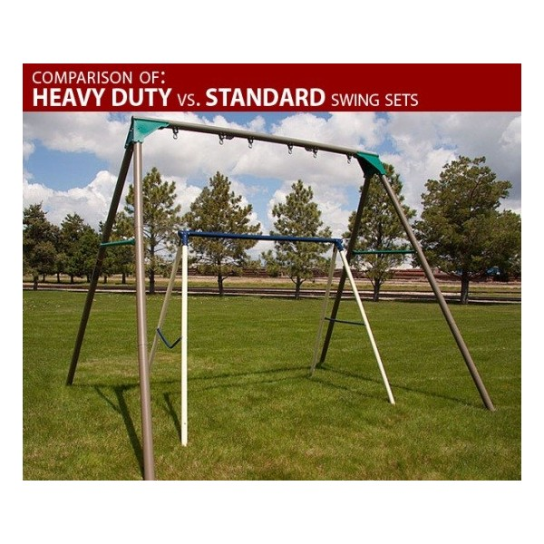 Lifetime Heavy Duty A Frame Metal Swing Set Earthtone 290038