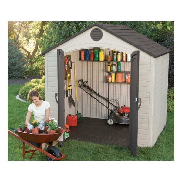Lifetime 8x5 plastic storage shed kit 6418 for Garden shed 8x5