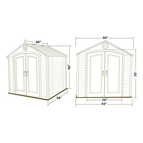 lifetime 8x5 plastic storage shed kit  6418