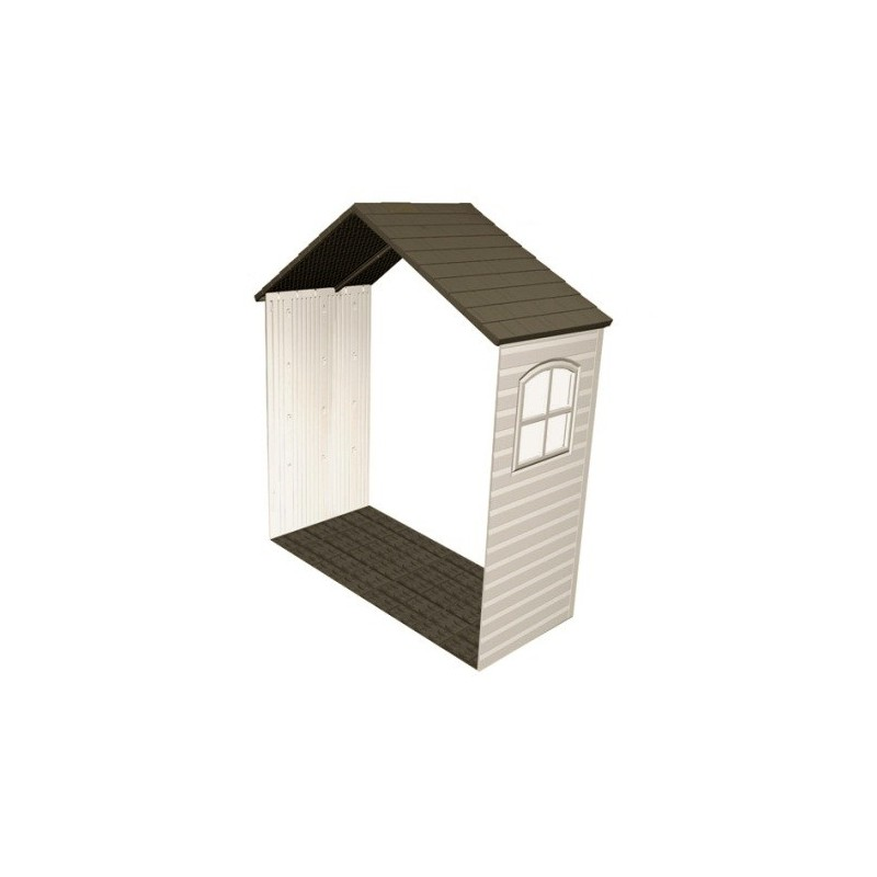 Lifetime 8 ft x 2.5 ft Outdoor Storage Shed Expansion Kit with One Window 6424
