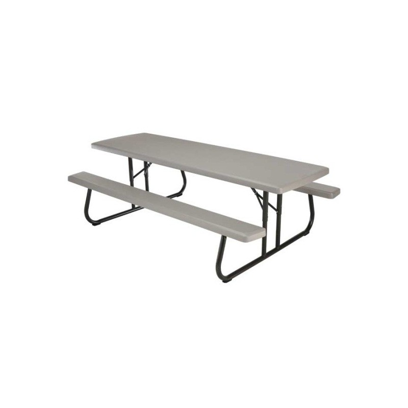 Lifetime 8 ft Plastic Folding Picnic Table (Putty) 80123