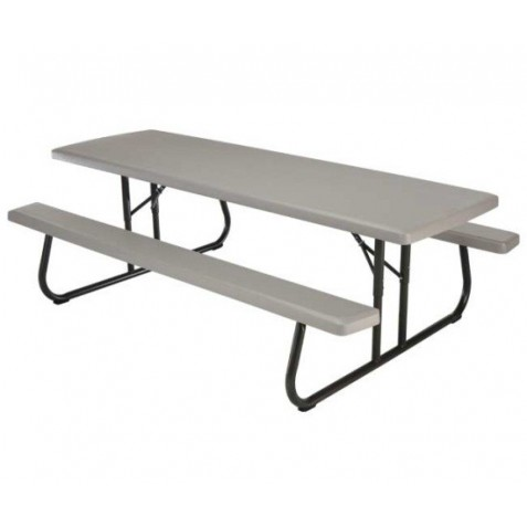Lifetime 8ft Plastic Folding Picnic Table (Putty) 80123