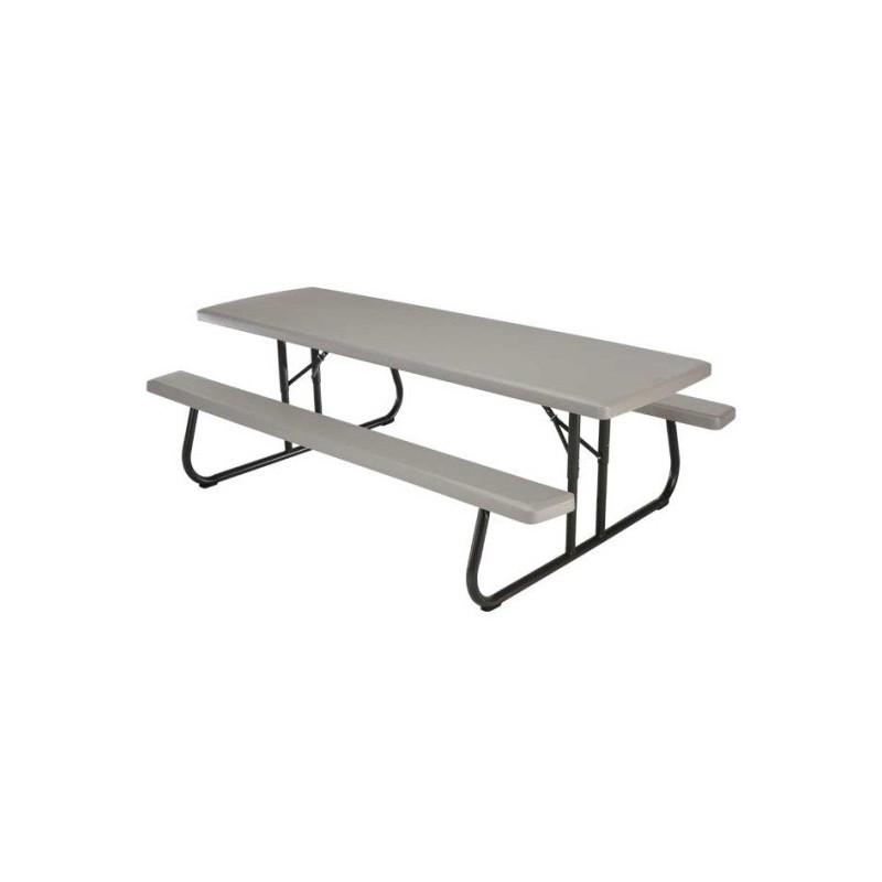 Lifetime 8ft Plastic Folding Picnic Table (Putty) 80123