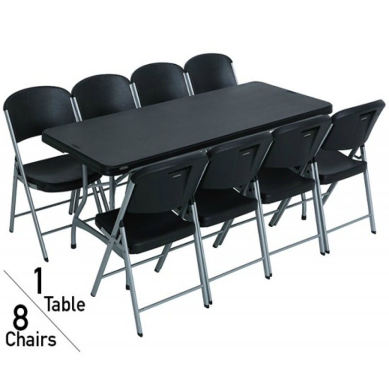 Lifetime-6-Ft-Stacking-Tables-And-Chairs-Combo-Black-80439