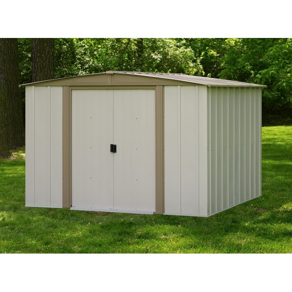 Arrow 8x8 bedford metal storage shed kit bd88 for Garden shed 8x8