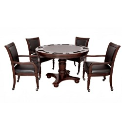 Blue Wave Bridgeport 2-in-1 Poker Game Table Set (NG2348W)