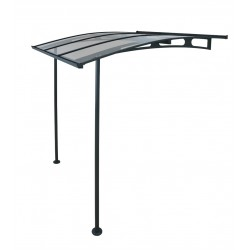 Palram Vega 2000 Awning - Gray/Clear (model HG9565)