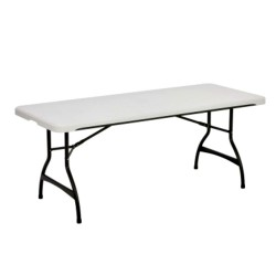 Lifetime 6-Foot Commercial Stacking Folding Table - White Granite (80306)