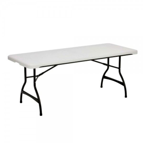 Lifetime 6 Foot Commercial Stacking Folding Table White