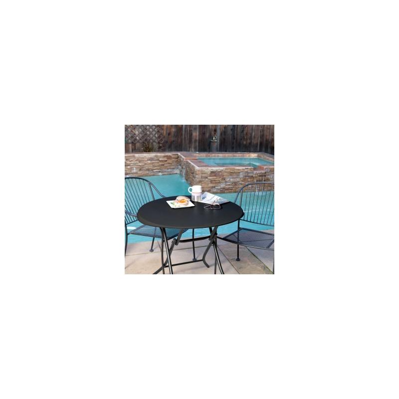 Lifetime 33-Inch Round Folding Table - Black (model 80351)