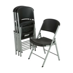 Lifetime 4 Pack Classic Commercial Folding Chair - Black (model 80407)