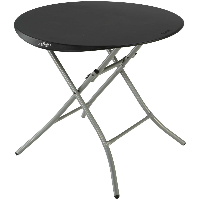 Lifetime Round Personal Table and Chair Combo Black ( 80438)