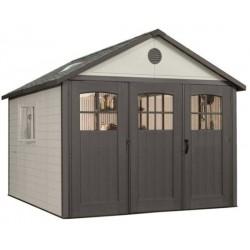 Lifetime 11x21 ft Storage Building Kit - Tri-Fold Doors (60237)
