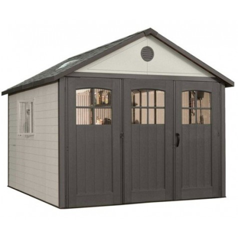 Lifetime 11x21 ft Storage Building Kit - Tri-Fold Doors (60237)