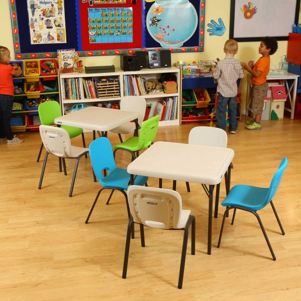 Lifetime Children S Table And Chairs Combo Almond 80437