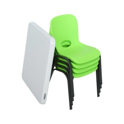 Lifetime Children's Table & Chairs Combo - Lime Green,Chair Almond Table (80500)