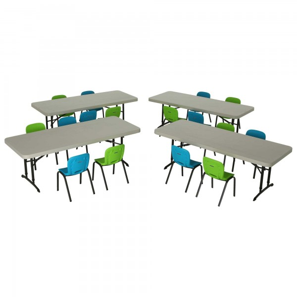 Lifetime Children S Chair And Table Combo 4 6ft Tables