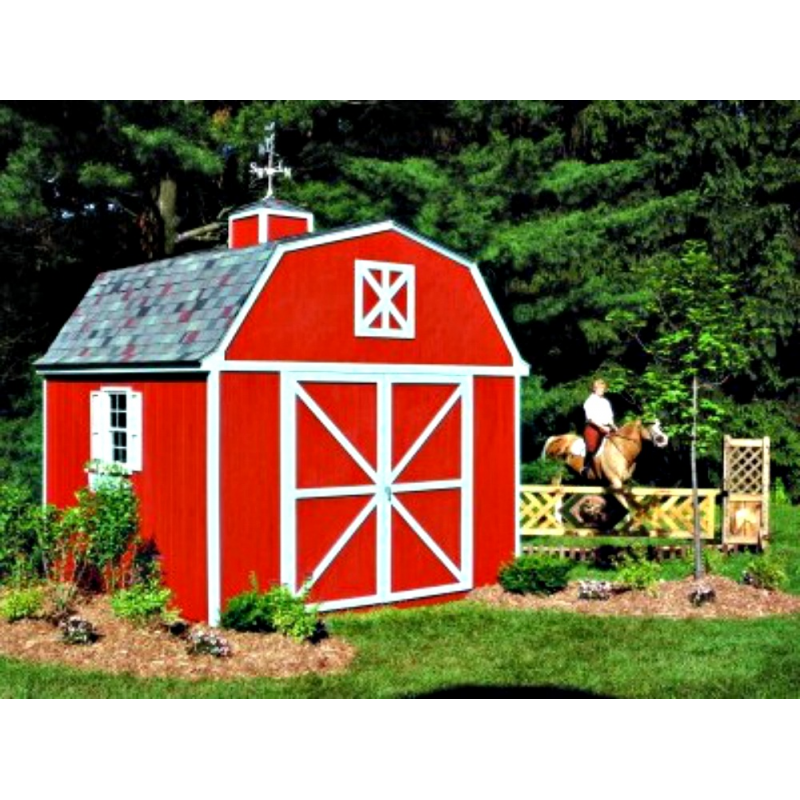 Handy Home Berkley 10x10 Wood Storage Shed w/ Floor (18420-8)