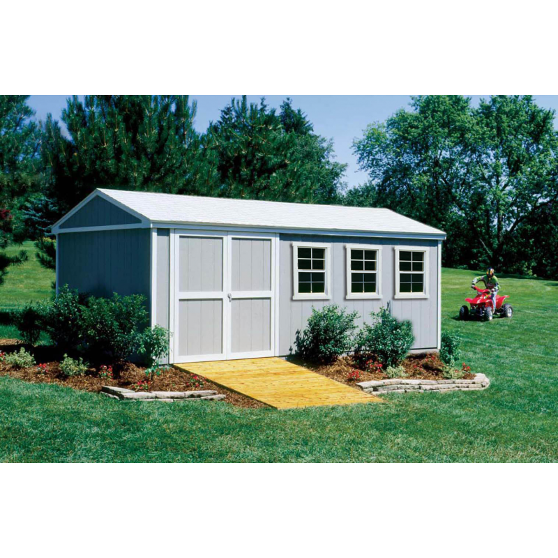 Handy Home Somerset 10x18 Wood Storage Shed Kit (18416-1)