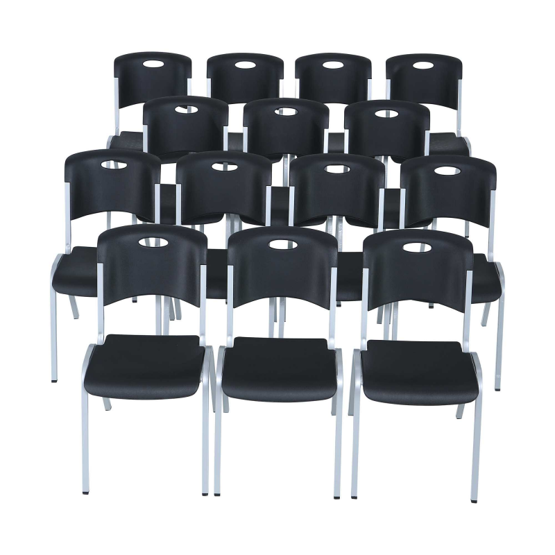Lifetime 14-pack Stacking Chairs - Black (880310)