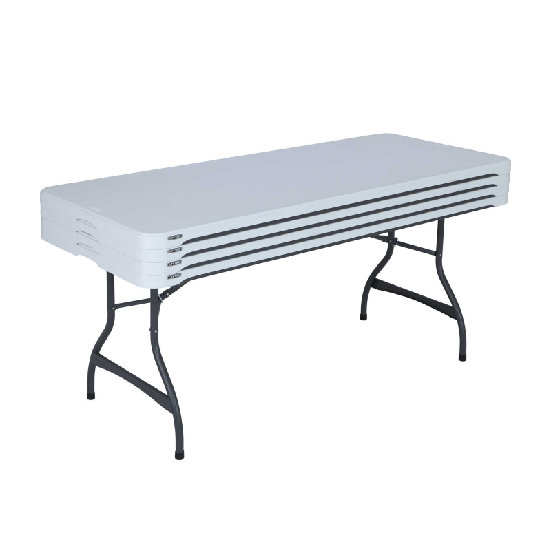 Lifetime 4-pack 6ft Commercial Stacking Folding Tables - White (480272)