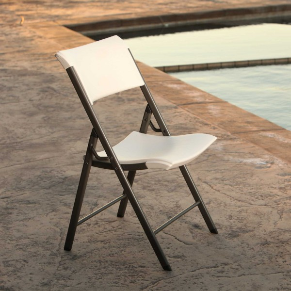 Lifetime 4 pack mercial Contemporary Folding Chairs Almond