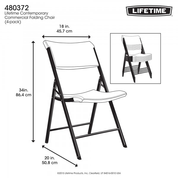 sc 1 st  KitSuperStore.com & Lifetime 4-pack Commercial Contemporary Folding Chairs - Almond (480372)