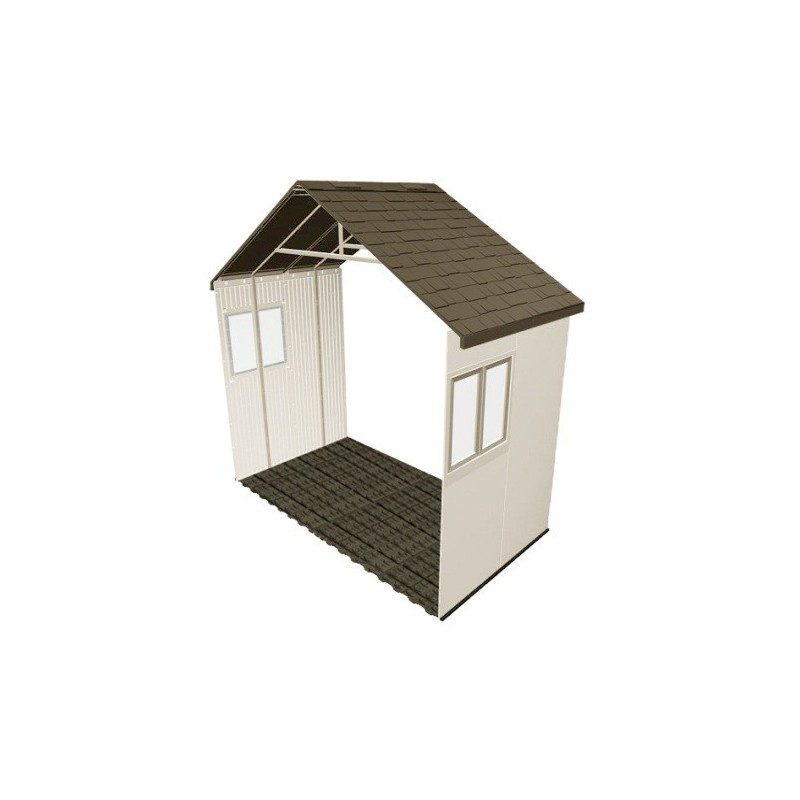 Lifetime 11 x 5 ft Outdoor Storage Building Expansion Kit with 2 Windows 6426