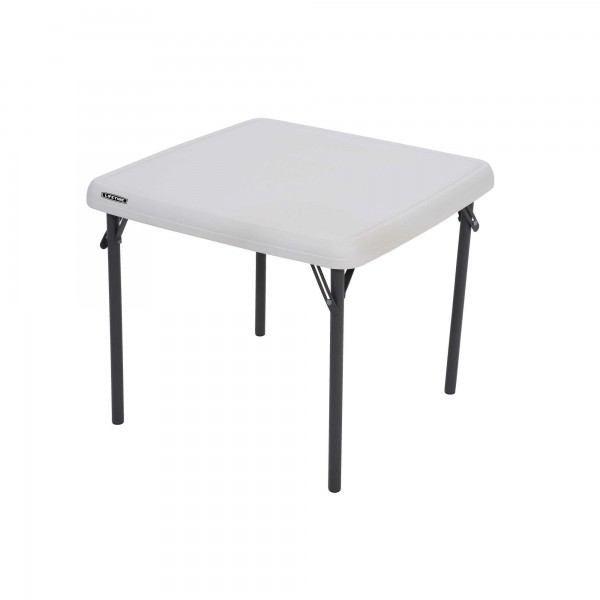 Lifetime Children S Square 24 Inch Folding Table Almond
