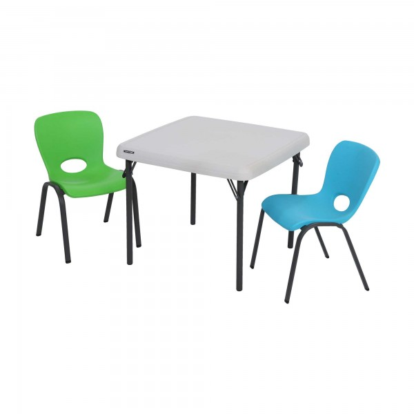 Folding Kids Table : ... Tables > Lifetime Childrens Square 24 inch Folding Table - Almond