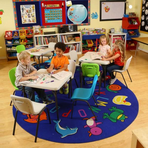 Lifetime Children S Square 24 Inch Folding Table Almond