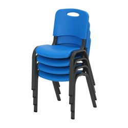 Lifetime 4-Pack Commercial Children's Stacking Chair - Dragonfly Blue (80533)