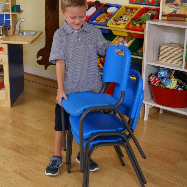 Lifetime 4 Pack Stacking Chairs Blue Plus Kid S Table