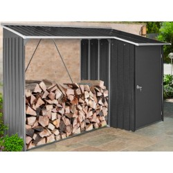 Duramax Woodstore Metal Combo Steel Shed Kit - Gray (53651)