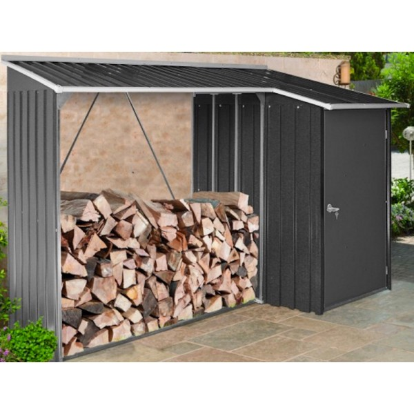 duramax woodstore metal combo steel shed kit gray 53651. Black Bedroom Furniture Sets. Home Design Ideas