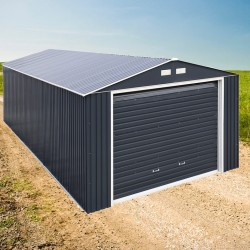 DuraMax 12x32 Imperial Steel Storage Garage Kit - Gray