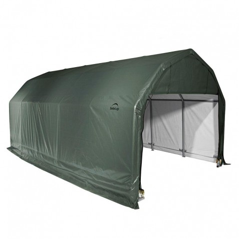 Shelter Logic 12x28x9 Barn Shelter, Green (97254)