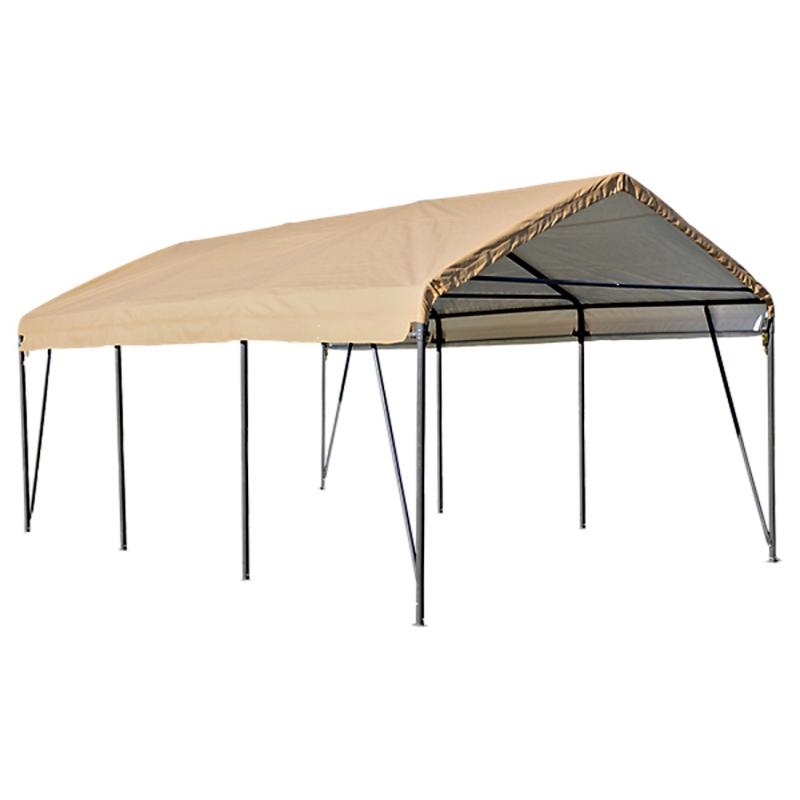 ShelterLogic 12x20x9 Carport-in-a-Box, Sandstone Cover (Model 62635)