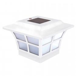Classy Caps 4X4 PVC Prestige Solar Post Cap - White (SL079W)