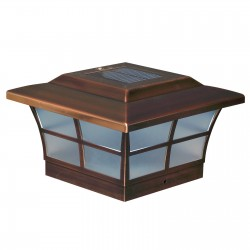 Classy Caps 4x4 Prestige Solar Post Cap - Copper Plated (SL079C)