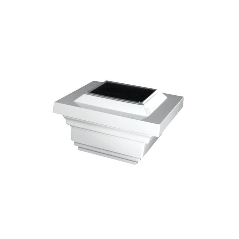 Classy Caps 4x4 PVC Regal Solar Post Cap - White (SL078W)