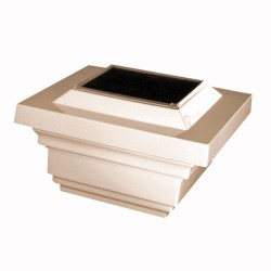 Classy Caps 4X4 PVC Regal Solar Light Post Cap - Tan (SL078T)