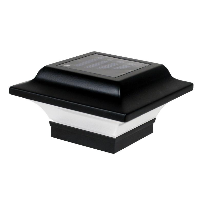 Classy Caps 2.5X2.5 Aluminum Imperial Solar Light Post Cap - Black (SL082B)