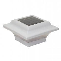 Classy Caps 2.5X2.5 Aluminum Imperial Solar Light Post Cap - White (SL082W)