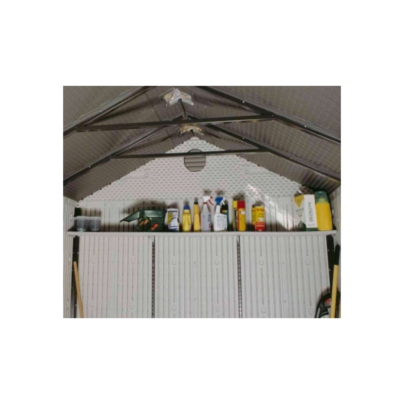 Lifetime 90-inch Full-Width Shelf Accessory Kit for 8 ft Storage Sheds 0150