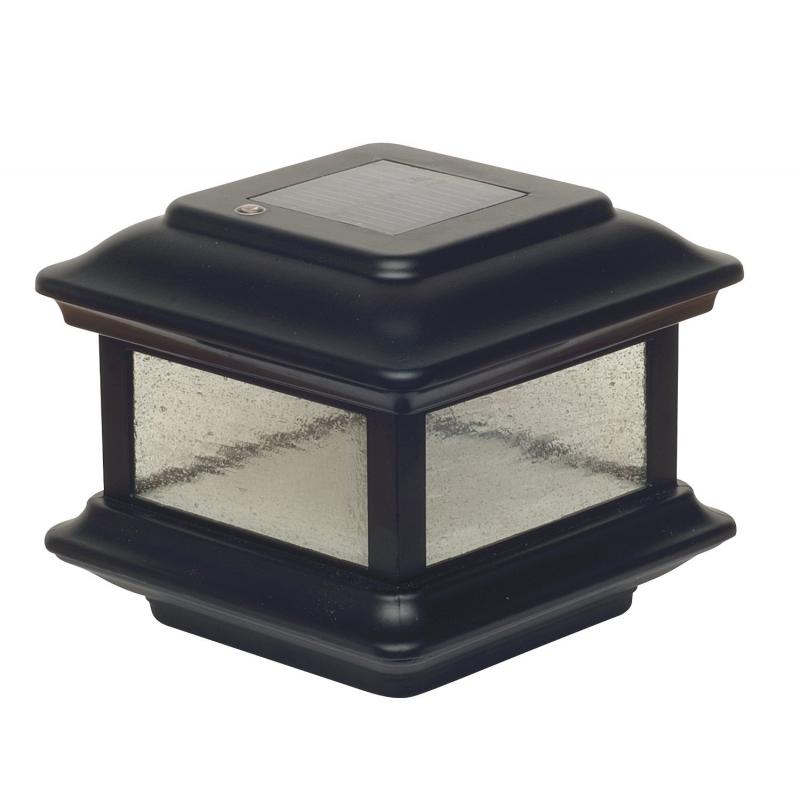 Classy Caps 4x4 Aluminum Colonial Solar Post Cap - Black (SL088)