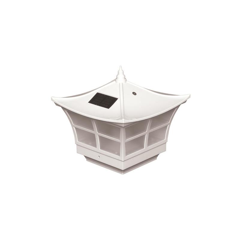 Classy Caps 5x5 PVC Ambiance Solar Post Cap - White (SLO92)