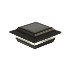 Classy Caps 4x4 Aluminum Imperial Solar Post Cap - Black (SL211B)