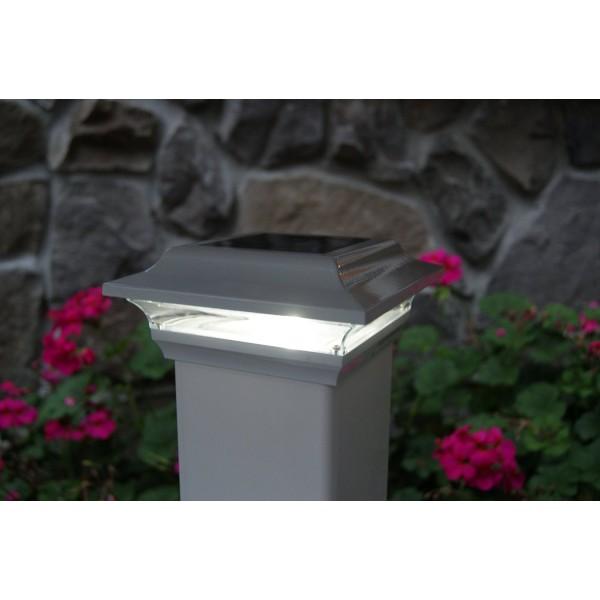Classy Caps 4x4 Aluminum Imperial Solar Post Cap Black