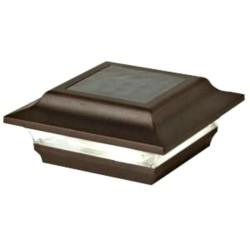 Classy Caps 4 x 4 Aluminum Imperial Solar Post Cap- Bronze (SL211R)